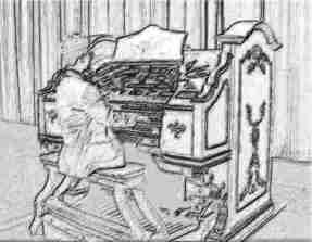 Organist drawing