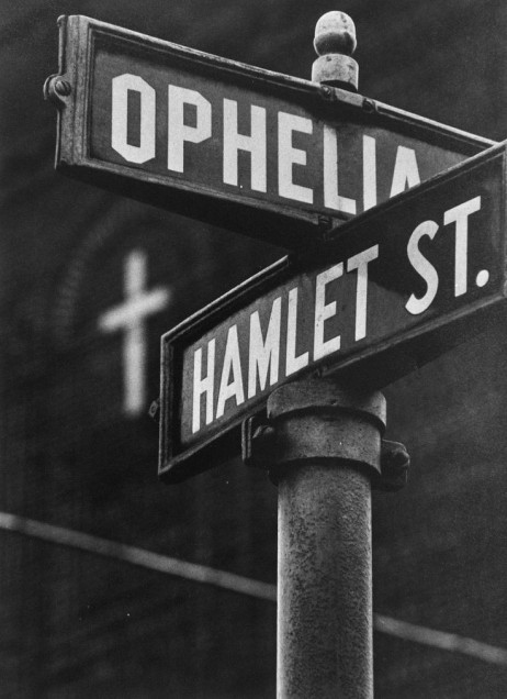 Shakespearean intersection in Pittsburgh, 1955, photo by W. Eugene Smith